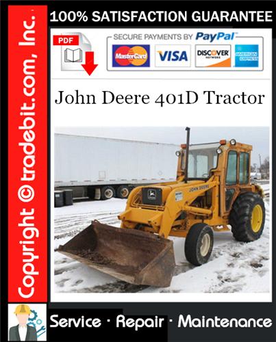 Thumbnail John Deere 401D Tractor Service Repair Manual Download ★