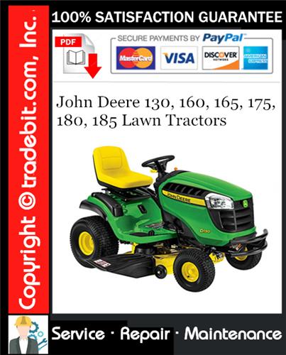 Thumbnail John Deere 130, 160, 165, 175, 180, 185 Lawn Tractors Technical Manual
