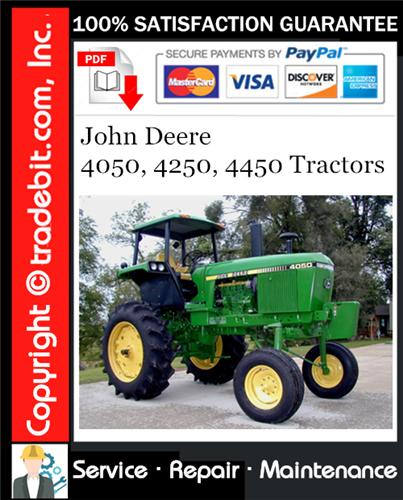 Thumbnail John Deere 4050, 4250, 4450 Tractors Service Repair Manual Download ★