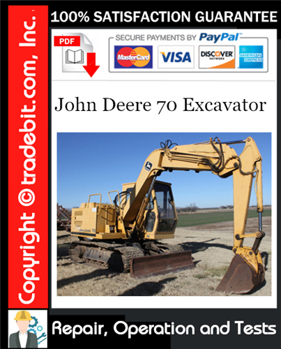 Thumbnail John Deere 70 Excavator Repair, Operation and Tests Technical Manual Download ★