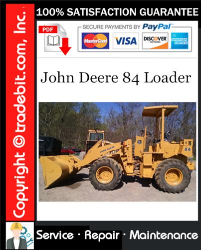 Thumbnail John Deere 84 Loader Repair Technical Manual Download ★