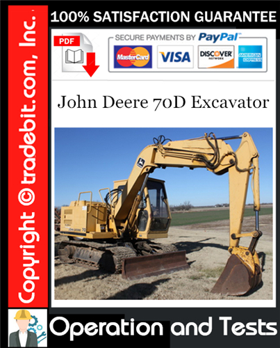 Thumbnail John Deere 70D Excavator Operation and Test Technical Manual Download ★