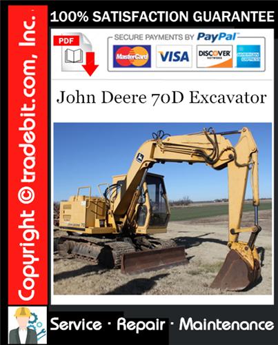 Thumbnail John Deere 70D Excavator Repair Technical Manual Download ★