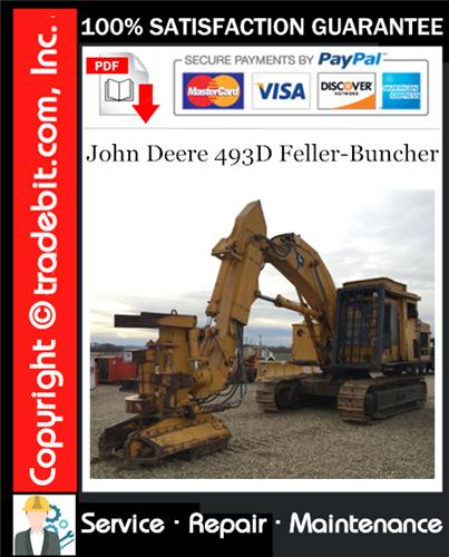 Thumbnail John Deere 493D Feller-Buncher Service Repair Manual Download ★