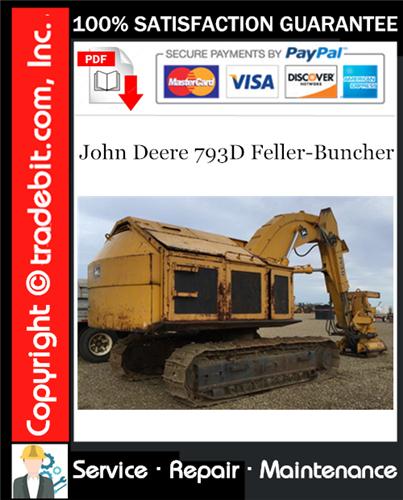 Thumbnail John Deere 793D Feller-Buncher Service Repair Manual Download ★