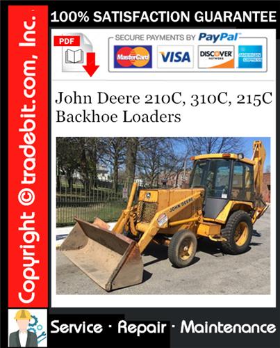 Thumbnail John Deere 210C, 310C, 215C Backhoe Loaders Repair Technical Manual Download ★