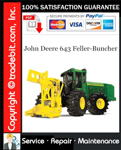 Thumbnail John Deere 643 Feller-Buncher Repair Technical Manual Download ★
