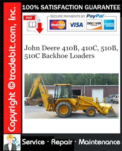 Thumbnail John Deere 410B, 410C, 510B, 510C Backhoe Loaders Repair Technical Manual Download ★