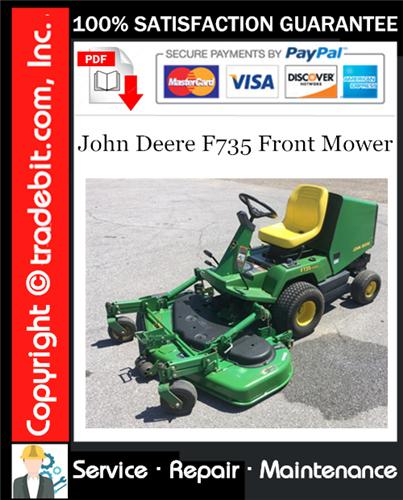 Thumbnail John Deere F735 Front Mower Service Repair Manual Download ★
