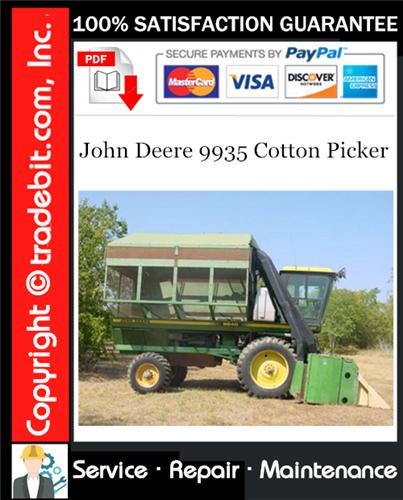 Thumbnail John Deere 9935 Cotton Picker Service Repair Manual Download ★
