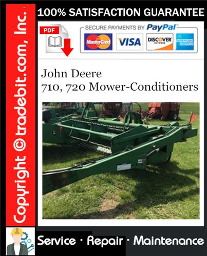 Thumbnail John Deere 710, 720 Mower-Conditioners Service Repair Manual Download ★