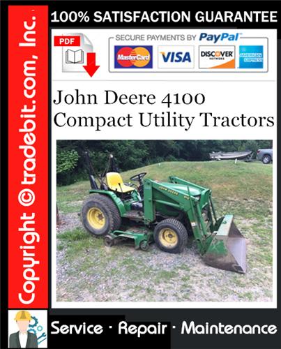 Thumbnail John Deere 4100 Compact Utility Tractors Service Repair Manual Download ★
