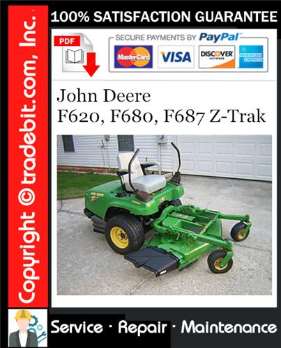 Thumbnail John Deere F620, F680, F687 Z-Trak Service Repair Manual Download ★