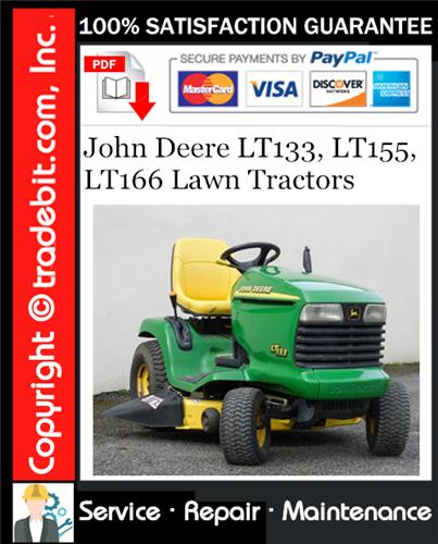 Thumbnail John Deere LT133, LT155, LT166 Lawn Tractors Service Repair Manual Download ★
