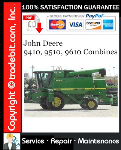 Thumbnail John Deere 9410, 9510, 9610 Combines Repair Technical Manual Download ★