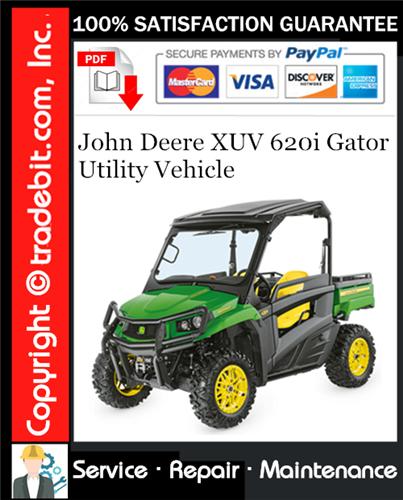Thumbnail John Deere XUV 620i Gator Utility Vehicle Service Repair Manual Download ★