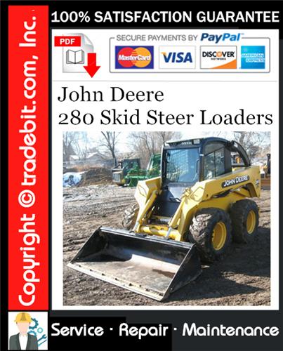 Thumbnail John Deere 280 Skid Steer Loaders Service Repair Manual Download ★