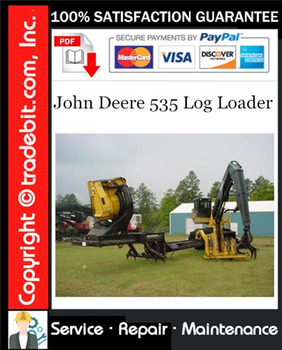 Thumbnail John Deere 535 Log Loader Service Repair Manual Download ★