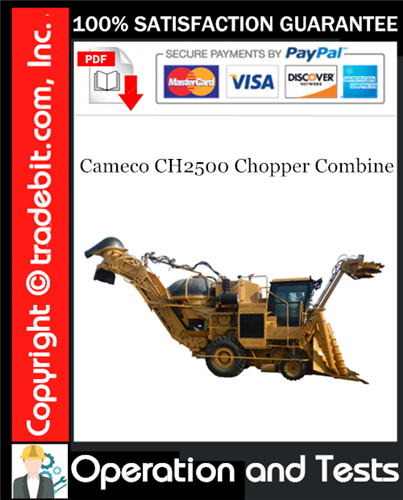 Thumbnail Cameco CH2500 Chopper Combine Operations and Tests Technical Manual Download ★