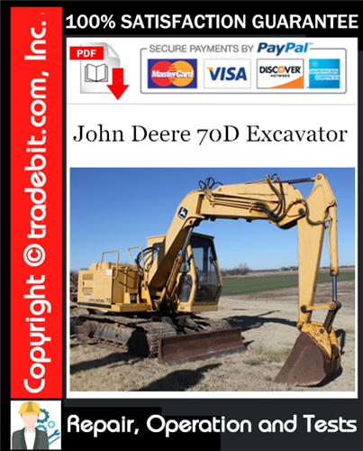 Thumbnail John Deere 70D Excavator Repair, Operation and Tests Technical Manual Download ★