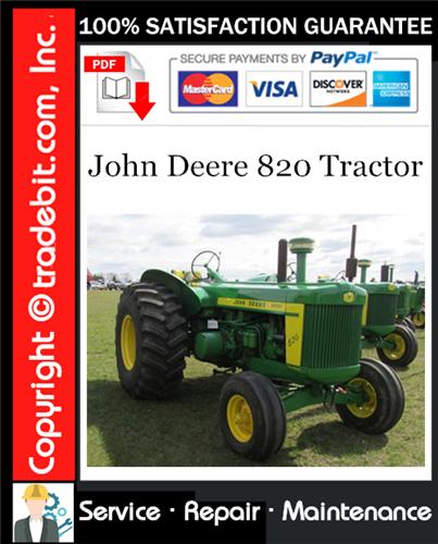 Thumbnail John Deere 820 Tractor Service Repair Manual Download ★