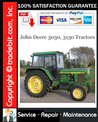 Thumbnail John Deere 3030, 3130 Tractors Service Repair Manual Download ★