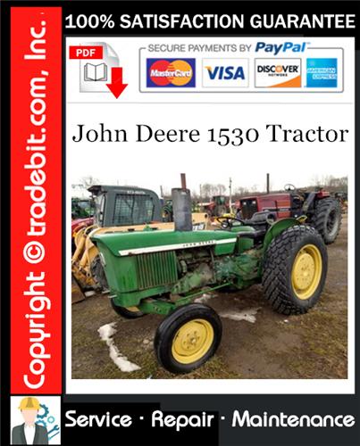 Thumbnail John Deere 1530 Tractor Service Repair Manual Download ★