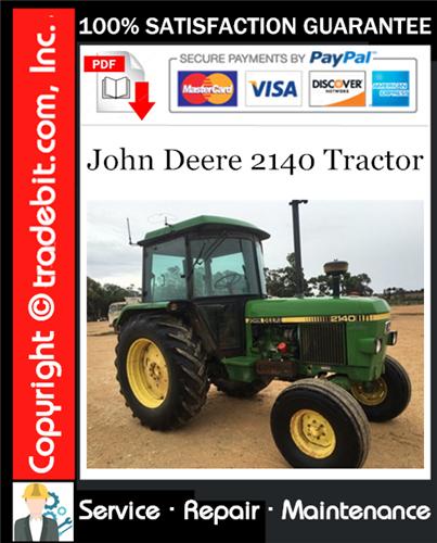 Thumbnail John Deere 2140 Tractor Service Repair Manual Download ★