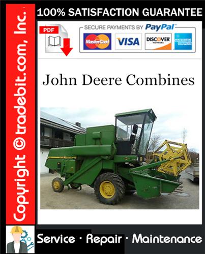 Thumbnail John Deere Combines Service Repair Manual Download (TM4387) ★