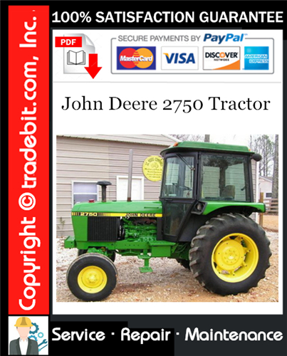 Thumbnail John Deere 2750 Tractor Service Repair Manual Download ★