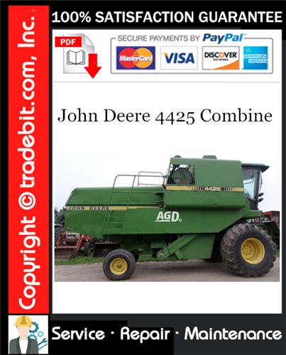 Thumbnail John Deere 4425 Combine Service Repair Manual Download ★