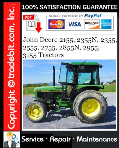 Thumbnail John Deere 2155, 2355N, 2355, 2555, 2755, 2855N, 2955, 3155 Tractors Service Repair Manual Download ★
