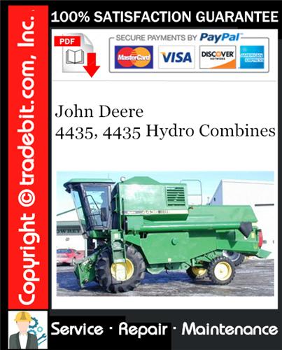 Thumbnail John Deere 4435, 4435 Hydro Combines Service Repair Manual Download ★