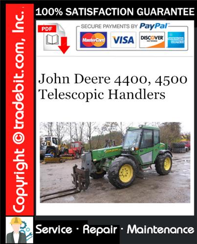 Thumbnail John Deere 4400, 4500 Telescopic Handlers Service Repair Manual Download ★