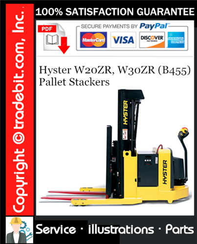 Thumbnail Hyster W20ZR, W30ZR (B455) Pallet Stackers Parts Manual Download ★