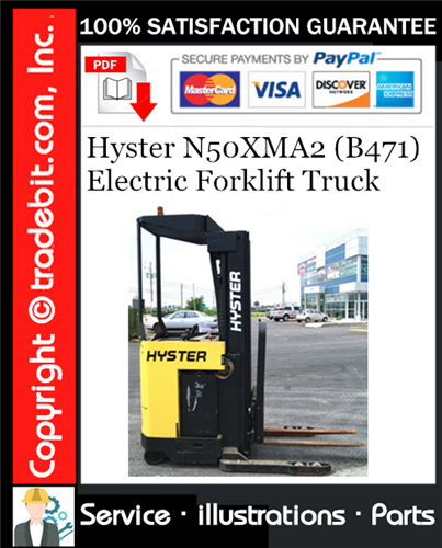 Thumbnail Hyster N50XMA2 (B471) Electric Forklift Truck Parts Manual Download ★