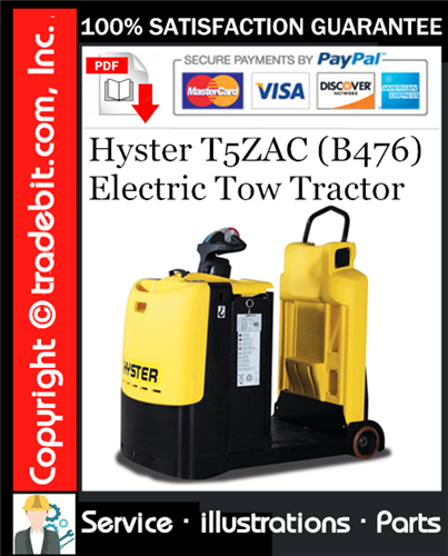 Thumbnail Hyster T5ZAC (B476) Electric Tow Tractor Parts Manual Download ★