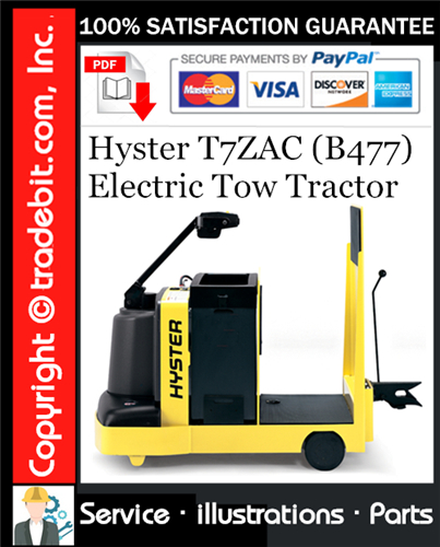 Thumbnail Hyster T7ZAC (B477) Electric Tow Tractor Parts Manual Download ★