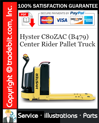 Thumbnail Hyster C80ZAC (B479) Center Rider Pallet Truck Parts Manual Download ★