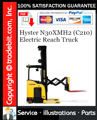 Thumbnail Hyster N30XMH2 (C210) Electric Reach Truck Parts Manual Download ★