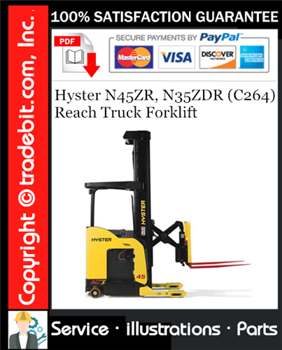 Thumbnail Hyster N45ZR, N35ZDR (C264) Reach Truck Forklift Parts Manual Download ★