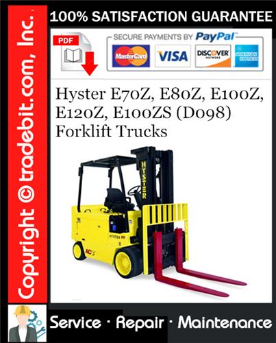Thumbnail Hyster E70Z, E80Z, E100Z, E120Z, E100ZS (D098) Forklift Trucks Service Repair Manual Download ★
