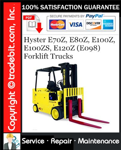 Thumbnail Hyster E70Z, E80Z, E100Z, E100ZS, E120Z (E098) Forklift Trucks Service Repair Manual Download ★