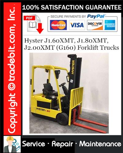 Thumbnail Hyster J1.60XMT, J1.80XMT, J2.00XMT (G160) Forklift Trucks Service Repair Manual Download ★