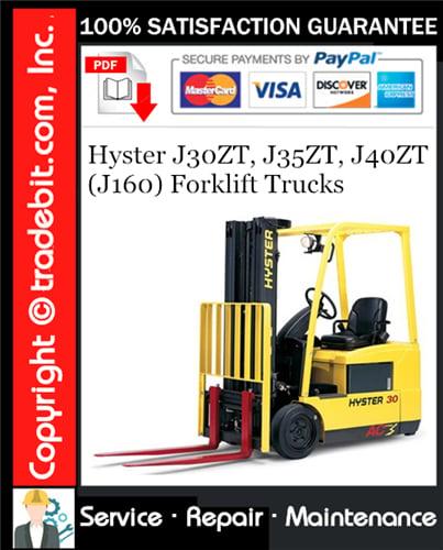 Thumbnail Hyster J30ZT, J35ZT, J40ZT (J160) Forklift Trucks Service Repair Manual Download ★