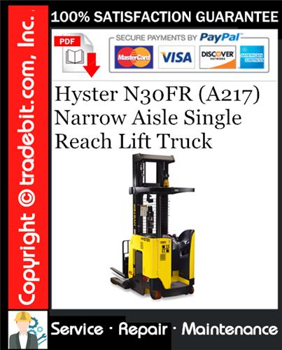 Thumbnail Hyster N30FR (A217) Narrow Aisle Single Reach Lift Truck Service Repair Manual Download ★