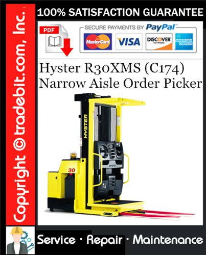 Thumbnail Hyster R30XMS (C174) Narrow Aisle Order Picker Service Repair Manual Download ★