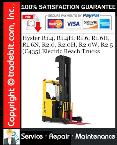 Thumbnail Hyster R1.4, R1.4H, R1.6, R1.6H, R1.6N, R2.0, R2.0H, R2.0W, R2.5 (C435) Electric Reach Trucks Service Repair Manual Download ★