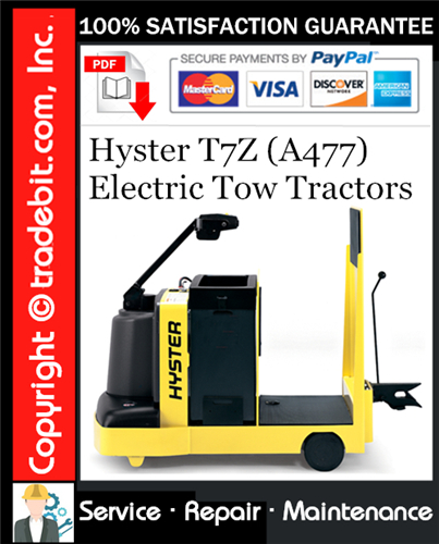 Thumbnail Hyster T7Z (A477) Electric Tow Tractors Service Repair Manual Download ★