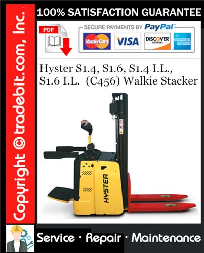 Thumbnail Hyster S1.4, S1.6, S1.4 I.L., S1.6 I.L.  (C456) Walkie Stacker Service Repair Manual Download ★